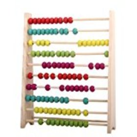 Wooden Abacus Educational Toy for Kids, Beads Colo