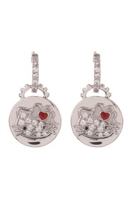 Hello Kitty Hello Kitty Sterling Silver Heart Bow
