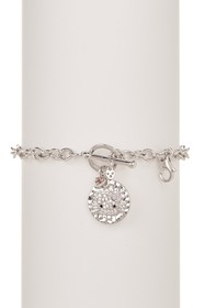 Hello Kitty Hello Kitty Sterling Silver Hammered D