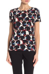 BOSS Ilyna Short Sleeve Print Blouse