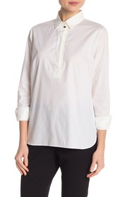 BOSS Bafysa Long Sleeve Solid Blouse