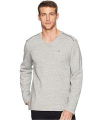 Calvin Klein Long Sleeve Fabric Blocked V-Neck