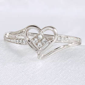 Womens Eternal Promise™ Sterling Silver Heart Prom