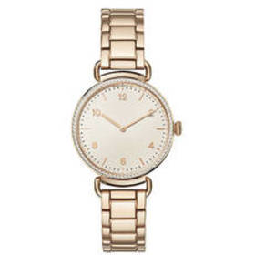 Womens Adrienne Vittadini Rose Gold Link Watch - A