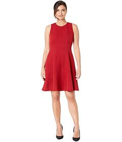Anne Klein Crepe Seamed Fit & Flare Dress