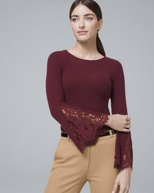 Lace Bell Sleeve Knit Top