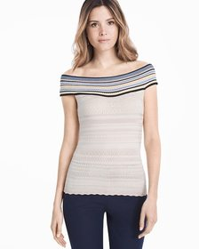 At-the-Shoulder Fitted Sweater