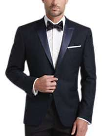 Awearness Kenneth Cole Navy Plaid Slim Fit Dinner