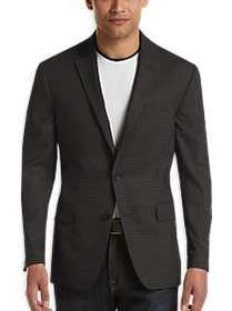 Awearness Kenneth Cole Charcoal Check Slim Fit Spo