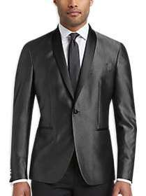 Kenneth Cole Awearness Silver Gray Slim Fit Formal