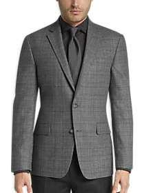 Awearness Kenneth Cole Gray Check Slim Fit Sport C