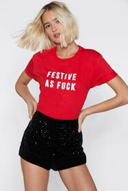 Festive as Fuck Holiday Tee
