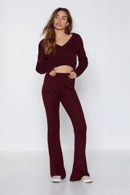 Are You into Knit Flare Pants