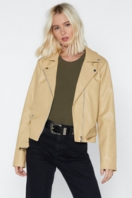 Faux Leather Mind Moto Jacket