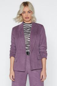 Suited and Booted Corduroy Blazer