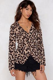 All Together Meow Leopard Blouse
