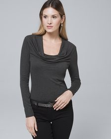 Draped-Neck Jersey Top