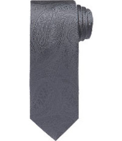 Traveler Collection Tonal Paisley Tie - Long CLEAR