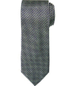 Traveler Collection Woven Mini Check Tie - Long CL