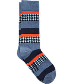 Jos. A. Bank Houndstooth Stripe Dress Socks, 1-Pai