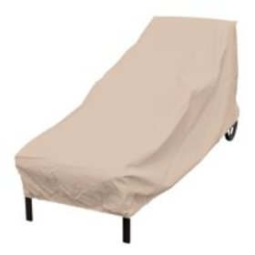 Elemental Tan Polyester Weatherproof Chaise Lounge
