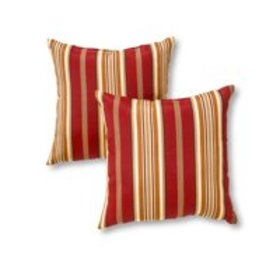 Roma Stripe 17 x 17 in. Outdoor Accent Pillow, Set