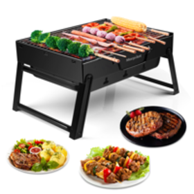 Morpilot Barbecue Charcoal Grill Folding Portable