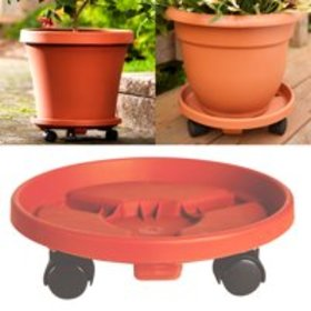 "Bloem Rolling Plant Stand Caddie Saucer 12"" Terra"