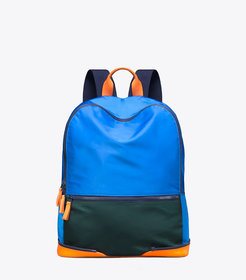 COLOR-BLOCK PACKABLE BACKPACK