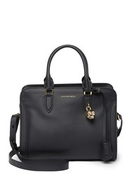 Alexander McQueen Small Padlock Leather Zip Crossb