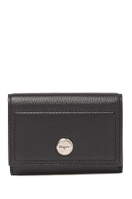 Salvatore Ferragamo Leather Snap Button Wallet