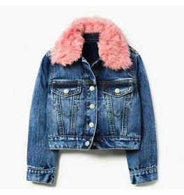 Furry Collar Denim Jacket