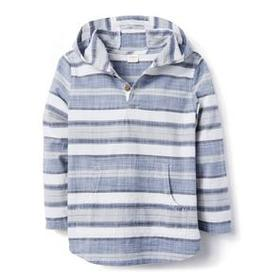 Stripe Hooded Shirt