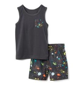 Splatter 2-Piece Shortie Pajamas