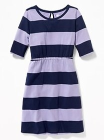 Printed Jersey Fit & Flare Dress for Girls