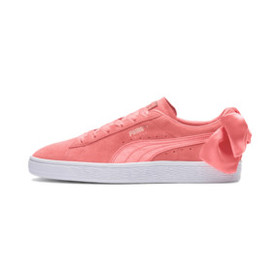 Suede Women's Bow Sneakers