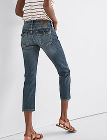Sweet Mid Rise Crop Jean In Timber Lakes