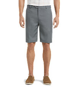 David Leadbetter Tailored Fit Flat Front Shorts -