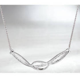 Sterling Silver 1/10ctw. Diamond Necklace