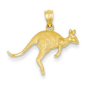 Womens Gemstone Classics™ 14kt. Textured Kangaroo