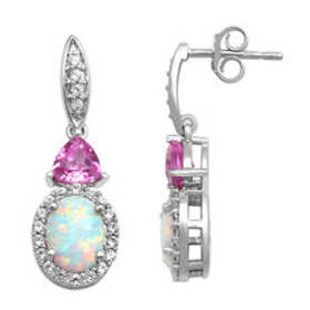 Womens Gemstone Classics™ Sterling Silver & Opal D