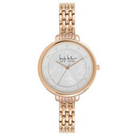 Womens Nicole Miller New York Rose-Tone Watch - NY