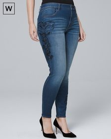 Plus High-Rise Embellished Skinny Jeans