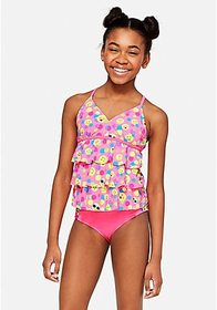 Emoji Dot Tiered Tankini