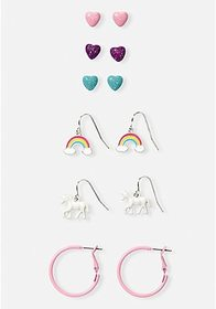 Unicorn Earrings - 6 Pack