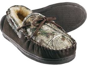 Weber's™ Men's Camo Leather Moccasin Slippers