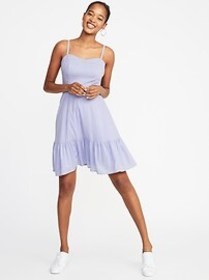 Fit & Flare Tiered Cami Dress for Women