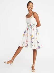Fit & Flare Floral Cami Dress for Women
