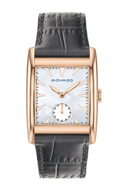 Movado Women's Heritage Swiss Quartz Embossed Leat