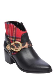 Betsey Johnson Wilm Western Style Plaid Bootie